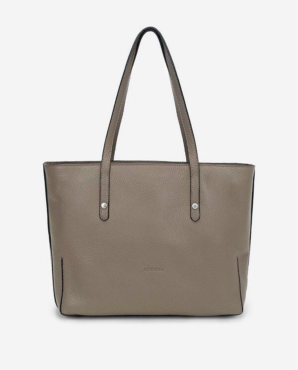 Bolso Shopping de piel grabada topo colección Esenciales Acosta 13394A