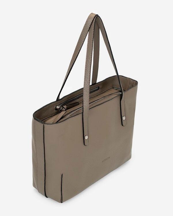 Bolso Shopping de piel grabada topo colección Esenciales Acosta 13394B