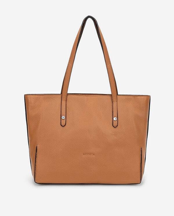 Bolso Shopping piel cuero colección Esenciales