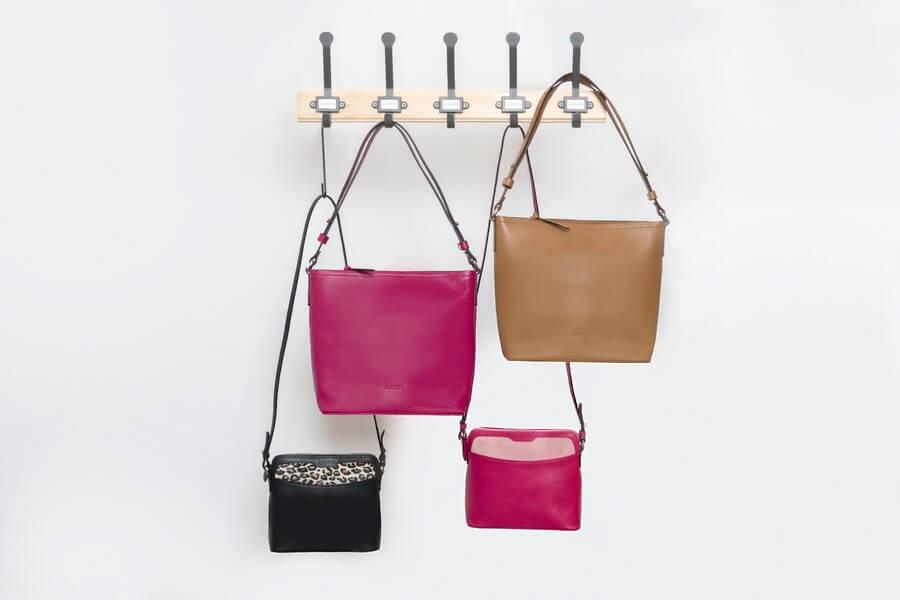 Bolsos de piel de diseño colección cubica