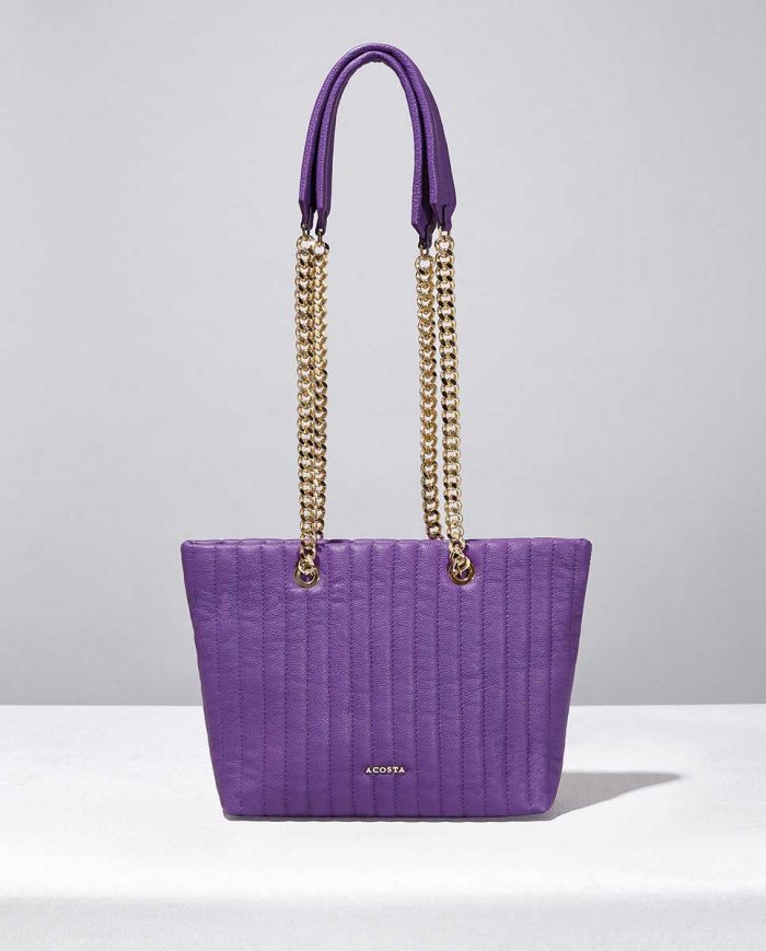 BOLSO SHOPPING PURPURA